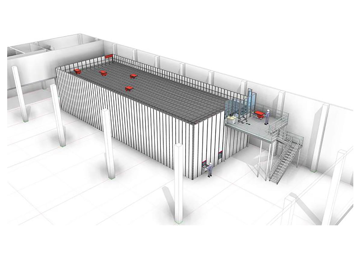 Automatisiertes Kleinteilelager mit Autostore für technische Teile