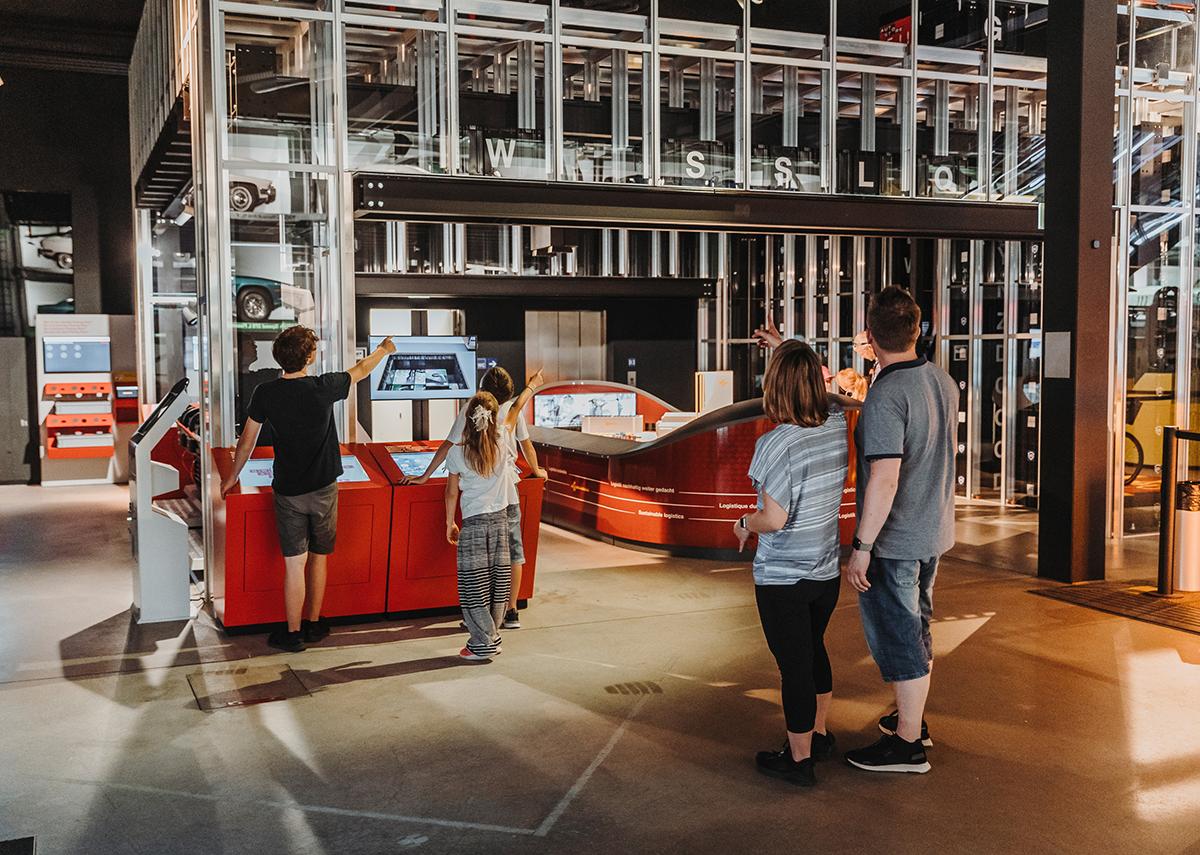 AutoStore-Exponat als funktionstüchtige Museumsstück