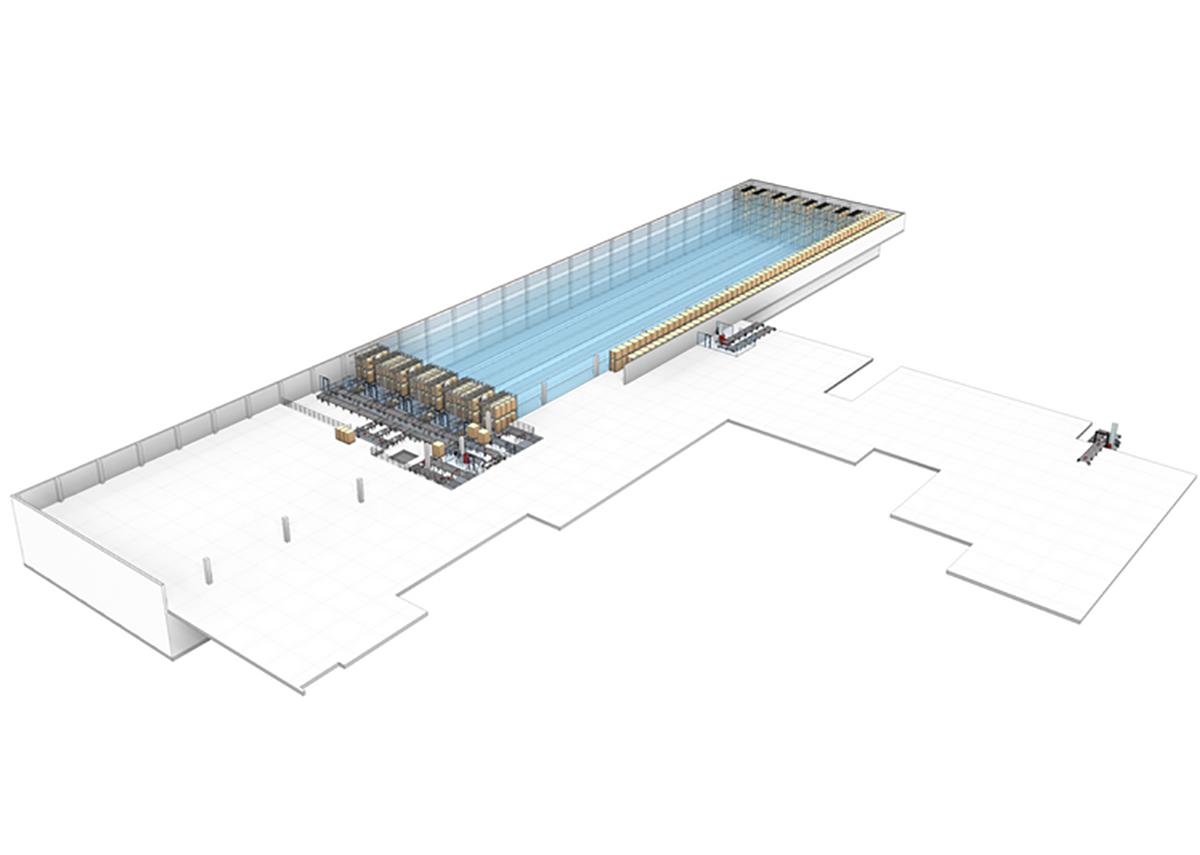 Hochregallager: Automatisches Palettenlager