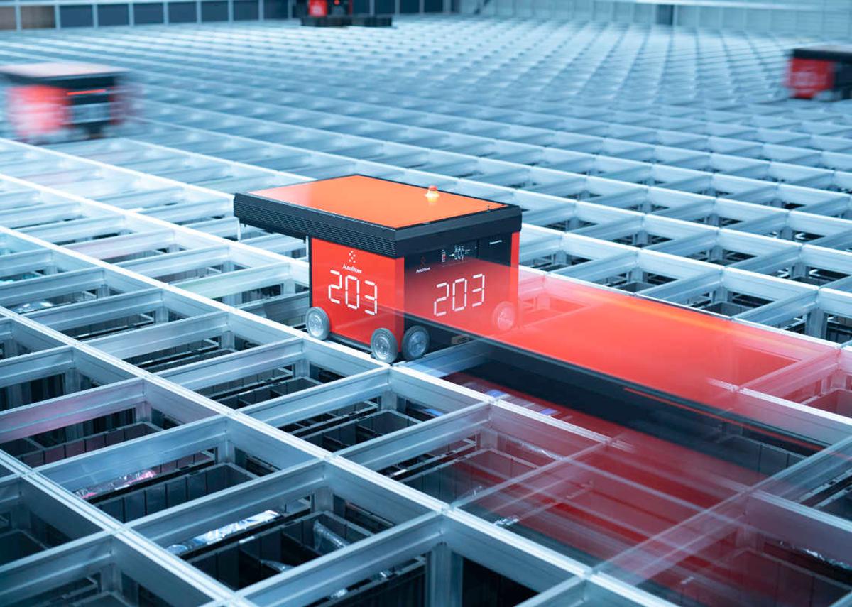 Künstliche Intelligenz im automatischen Kleinteilelager mit AutoStore