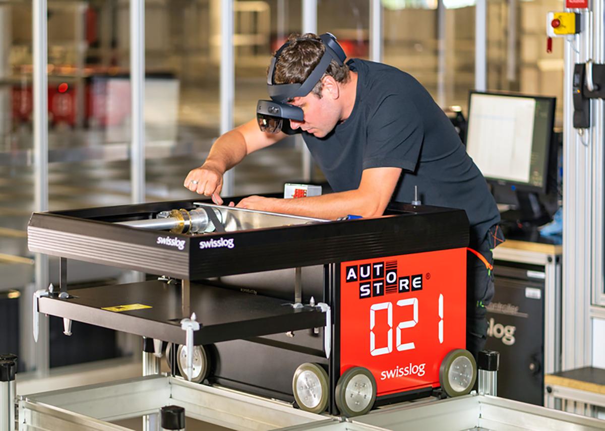 Kleinteile-Pufferlager mit AutoStore als Automatisierungslösung